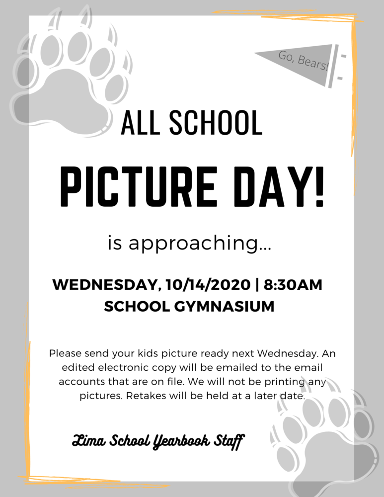 PICTURE DAY! Wednesday, 10/14